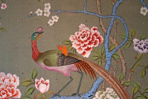 De Gournay hand painted wallpaper