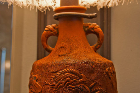 Custom Japanese Terra-cotta pottery sconces