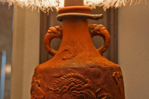 Custom Japanese Terra-cotta pottery sconces