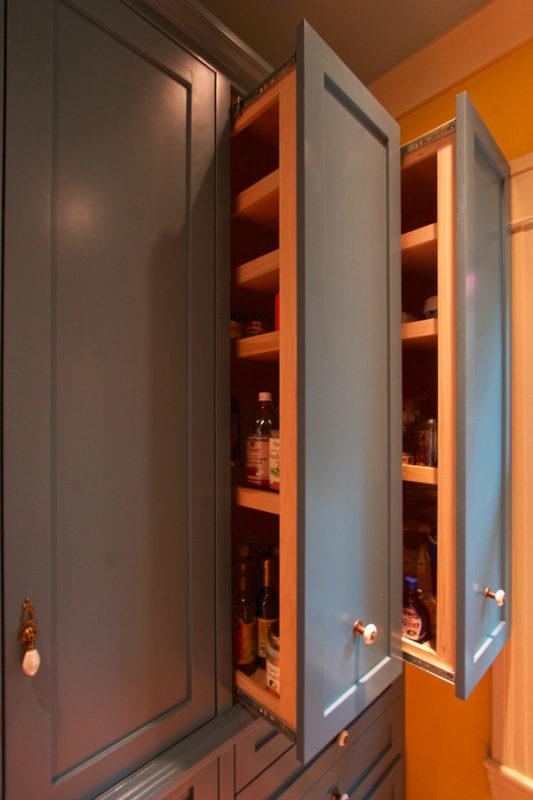 Detail of pantry storage.