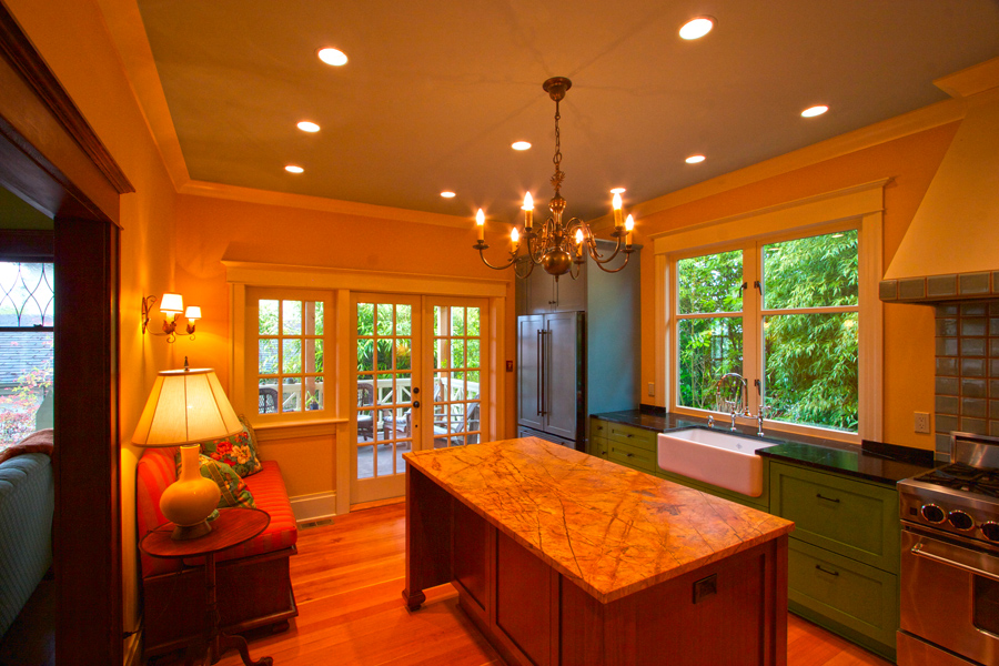 Overview of completed kitchen remodel.