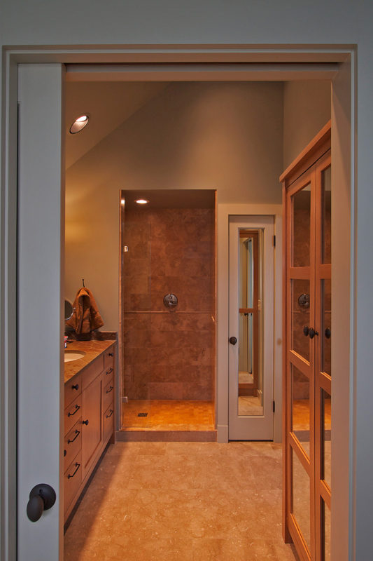 View of Shower from Tub Room