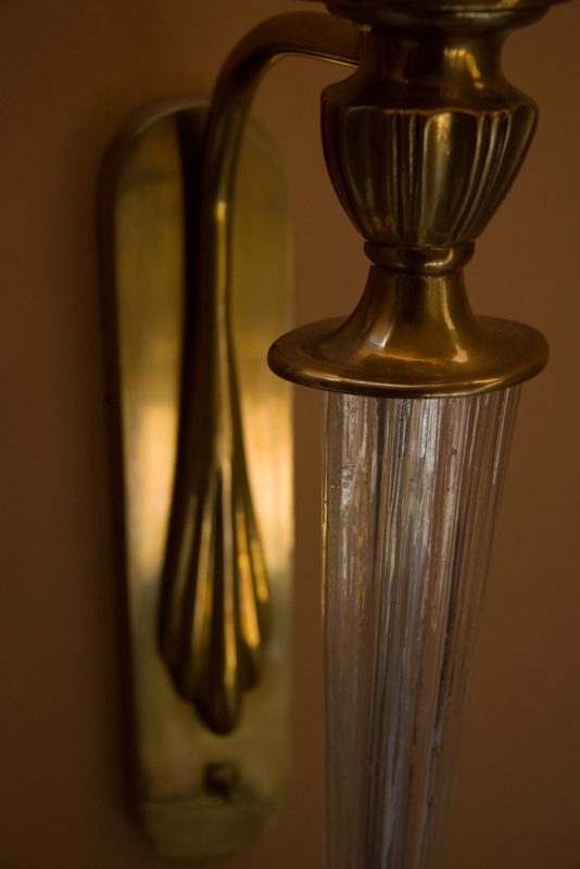 Sconce Brass Detail