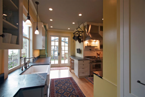 North Everett Kitchen Remodel from living room entrance.