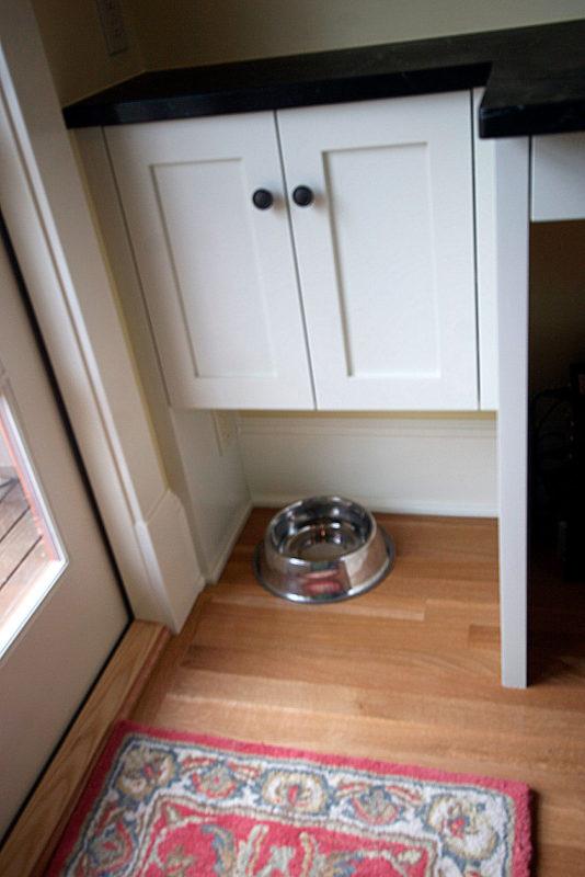 North Everett Kitchen Remodel custom cabinet including pet food alcove.