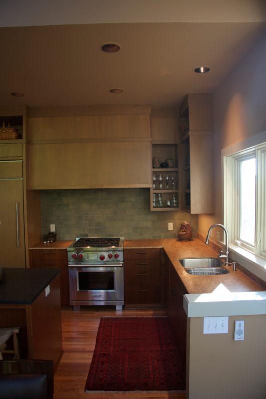 Kitchen Corner Showing Inset Upper Cabinet