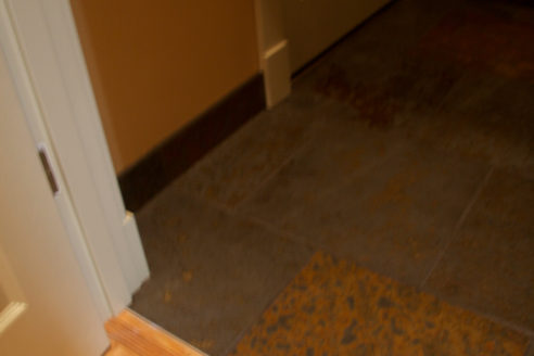 Slate Floor At Backdoor